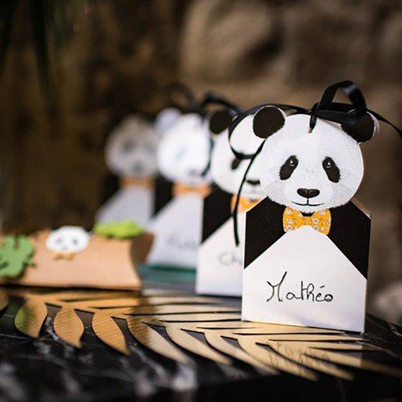 8 contenants Panda pour bonbons, dragées, chocolats...