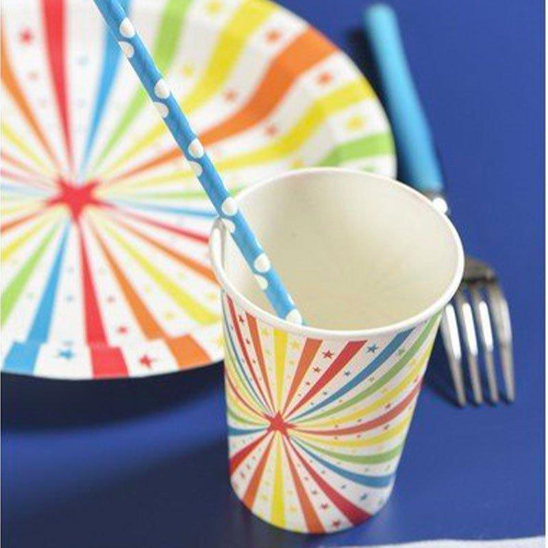 Gobelet cirque multicolore - 10 pièces