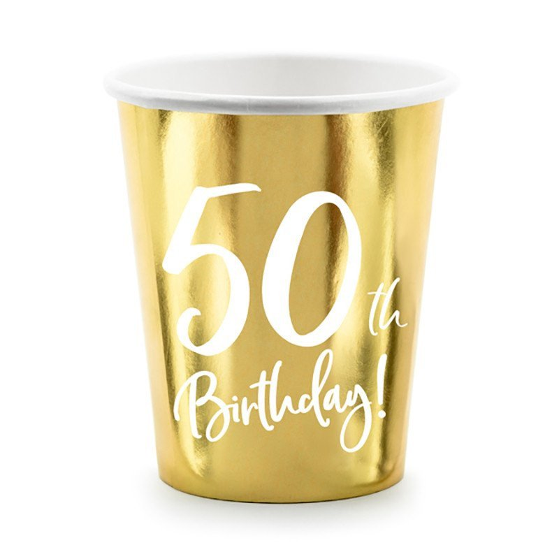 "Gobelet doré ""50 ans"""