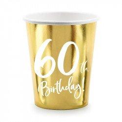"Gobelets doré ""60 ans"""
