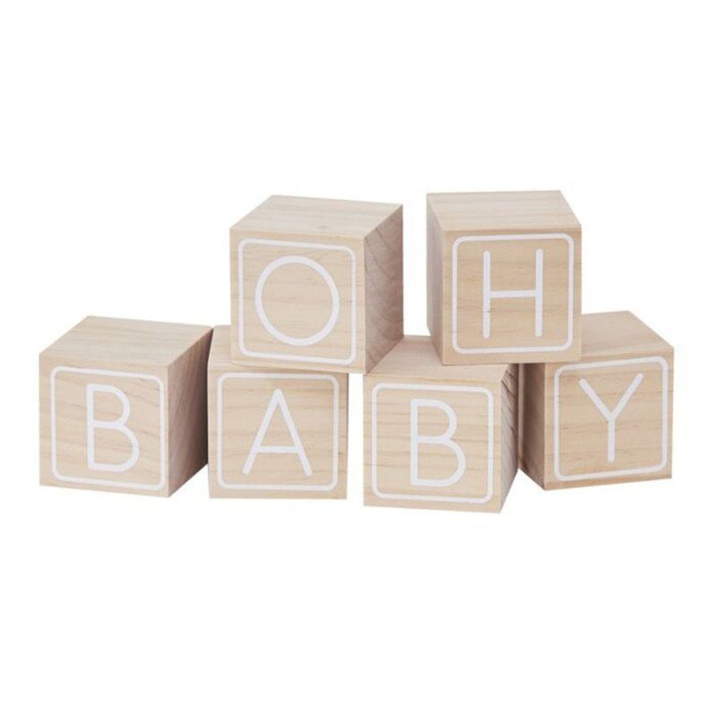 6 Cubes bois « Oh Baby »