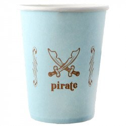 Gobelets pirate bleu -6 pièces