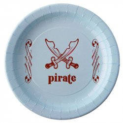 Assiettes pirate bleu -6 pièces