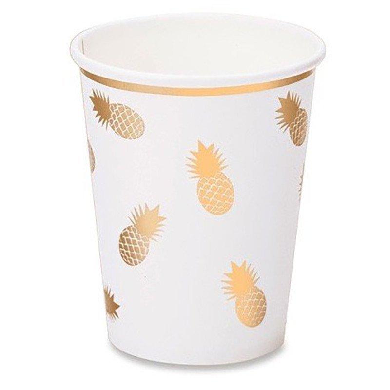 """8 Gobelets """"Ananas Or"""""""