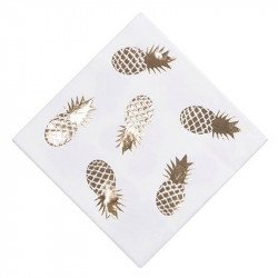 Serviettes Ananas doré (x16)